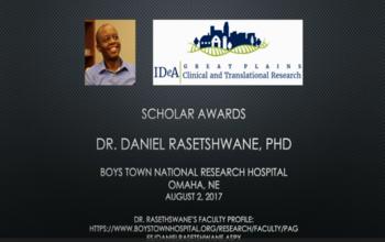 Scholar Interview: Daniel Rasetshwane, PhD
