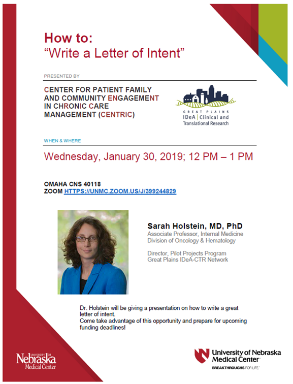 Write A Letter Of Intent Hosted By Centric Gp Idea Ctr