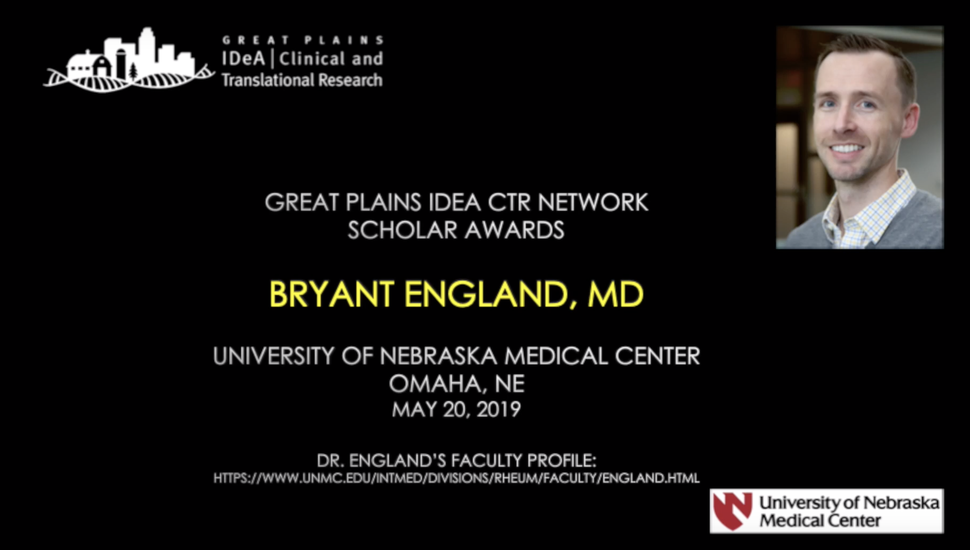 Scholar Interview: Bryant England, MD